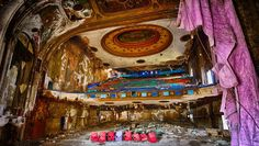 EASTOWN THEATRE, DETROIT:  The 2,500-seat theatre designed by V.J. Waier & Company and opened in 1930 operated as a cinema until the mid-1960s. From 1969 to the early 1970s it was a famous concert venue, where the Doors, Pink Floyd, Grateful Dead and Alice Cooper played, among others. Later the building was used as a jazz venue, an adult film theatre (called the Showcase), a rave party venue, and a church.