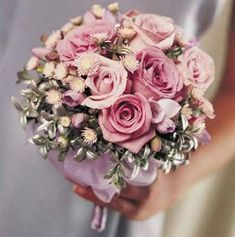 Pink Wedding Bouquets; Awesome site filled with tons of photos.  Get ideas for bouquets, centerpieces, corsages, reception halls, boutonnieres, church ceremonies and more.  Easy tutorials for flowers.
