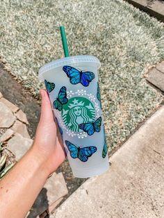 Starbucks Coffee Cups, Starbucks Shop, Starbucks Cup Design, Starbucks Tumbler Cup, Secret Starbucks Drinks, Personalized Starbucks Cup, Custom Starbucks Cup, Personalized Cups, Starbucks Venti