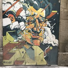 Barcelona Travel, Master Chief, Street Art, Around The Worlds, Comic Books, Comics, Shutters, Walls, Fictional Characters