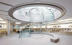 Apple patenta su escalera de vidrio Shangai Apple+Patents+Glass+Cylinder+Design