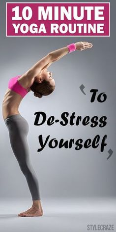 De-stress 10 minute yoga