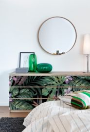 Easy and quick d.i.y. sticker Botanical for your Ikea Malm drawer
