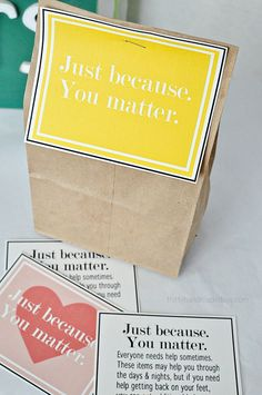 Printables for Blessing Bags from http://www.thirtyhandmadedays.com