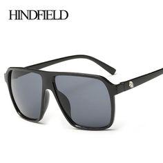 0fb2eeb56fd HINDFIELD Fashion Big Sunglasses Men Brand Designer Mirror Oversized  Sunglasses Women Retro Sport Sun glasses for