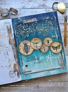 That's Life: A Bug's Life... Journal page created by Emma Williams for Simon Says Stamp Monday Challenge Blog