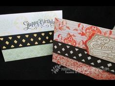 Lattice with Chevron Border Punch frenchiestamps.com ~ Perfectly Penned, Chalk Talk with video on how to do border