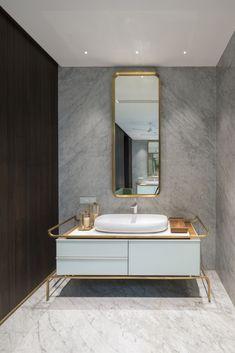 Gallery of The House Of Secret Gardens / Spasm Design - 36 - April 27 2019 at Contemporary Bathroom Designs, Modern Bathroom, Small Bathroom, Silver Bathroom, Bathroom Ideas, 1920s Bathroom, Paris Bathroom, Bathroom Hacks, Contemporary Interior