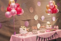 Blair's Pink and Gold Princess First Birthday Party