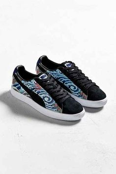 5057d21f4094 Puma X Atmos Clyde Three Tides Tattoo Sneaker - Urban Outfitters Painted  Vans