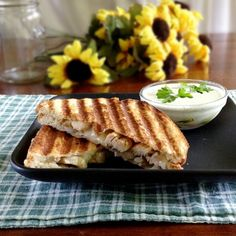 Cajun Chicken Panini with Spicy Dipping Sauce