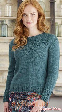 Женский вязаный пуловер «Jadeite» - Вязание - Страна Мам