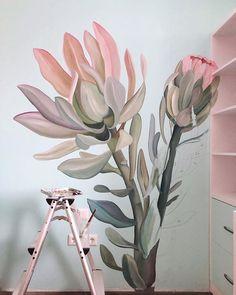 Peacock Wall Art, Deer Wall Art, Mural Wall Art, Garden Mural, Garden Wall Art, Wall Art Designs, Wall Design, Wall Painting Decor, Painting Art