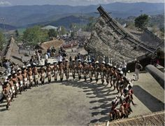 HORNBILL FESTIVAL, held every year from December 1 to 7. All major tribes participate in the Festival. Great opportunity to know more about the culture, tradition, and customs. Naga Heritage Village, Kisama, Nagaland, India
