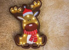 Our product is the unique Christmas Deer night lamp that is made with love and care for the most important people in your life. This Christmas Deer night light works on the simple batteries, which is very convenient because you can place it anywhere you want. Marquee light is made from birch plywood and its perfect for baby room decor or as a gift for any person, as a baby shower gift. * Made from birch plywood * 2xAA included batteries * Have a switch for easy on/off or DIMMER SWITCH. ...