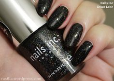 Dancing away on #DiscoLane | in a nutshell...#notd #nailsinc #nailpolish #holo