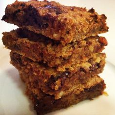 Dried fruit bars baked to perfection