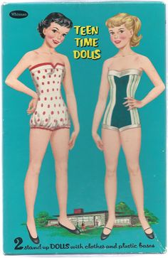 1959 Teen Time - DollsDoOldDays - Picasa free paper dolls for Christmas at artist Arielle Gabriels The International Paper Doll Society and also free Asian paper dolls at The China Adventures of Arielle Gabriel * Vintage Paper Dolls, Vintage Toys, Paper Dolls Printable, Paper Toys, 3d Paper, Paper Crafts, Retro Toys, Vintage Patterns, Doll Patterns