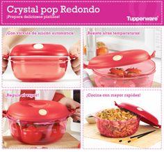 ¿Quieres cocinar con rapidez? ¡El Crystal Pop Redondo de Tupperware es lo mejor! #Tupperware #Cocina