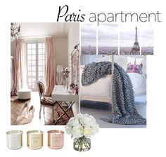 """Paris Apartment"" by rbecallen ❤ liked on Polyvore featuring interior, interiors, interior design, home, home decor, interior decorating, Art Addiction, Tom Dixon, Lili Alessandra and Diane James"