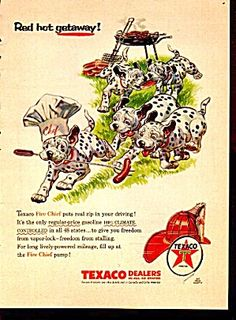 Texaco Ad With Dalmation Dogs