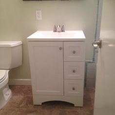Glacier Bay Lancaster 24 in. Vanity in White with Alpine Vanity Top in White LC24P2COM-WH at The Home Depot - Mobile