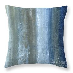 Abstract Throw Pillow featuring the painting Beautiful Navy Blue And Gray Original Abstract Acrylic Painting Lakewood By Megan Duncanson by Megan Duncanson