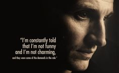 Chris Eccleston on being casted as the 9th Doctor..O my gosh! Who would ever tell him that!? Shame on them!  He is beyond funny and charming!