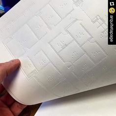 On instagram by construtora247 #braille #doitbraille (o) http://ift.tt/1QBXveU @arquitetapage with @repostapp.  #Braille Plans | Planta em Braille  #arquitetapage via my sister @veevinci