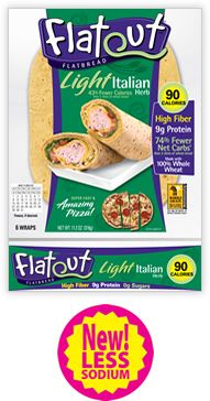 Flat Out Wraps - Just discovered these! Great flavors and low cal too!