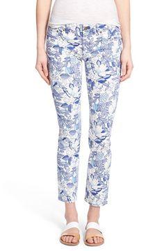 Vineyard Vines 'Cordia' Floral Skinny Jeans (White Cap)