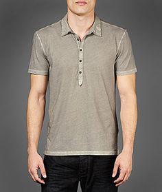 John Varvatos Official Site: Shop Online , VARV-3910 Short Sleeve Garment Washed Polo, johnvarvatos.com