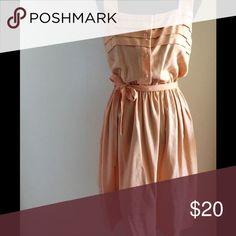 Final Drop⬇️ Vintage Peach dress Vintage peach dress with elastic waist best fits M/L Vintage Dresses
