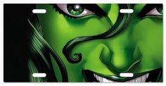 Custom She-Hulk Determination Vanity License Plate