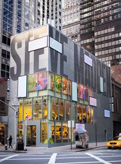 This is a pretty neat building!  Makes perfect sense, it is a Steve Madden store...