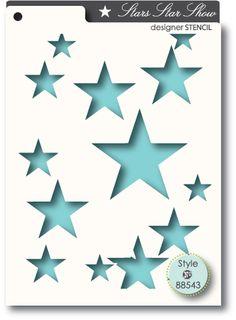 Memory Box - A6 Stencil - Star Show