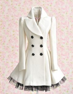 white veil wool coat US $126 aliexpress.com