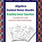 This is a guided, color-coded notebook page for the interactive math notebook bundle on graphing linear equations.  Notebook pages include color-co...