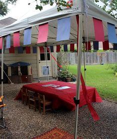 fiesta medieval para niños mesa