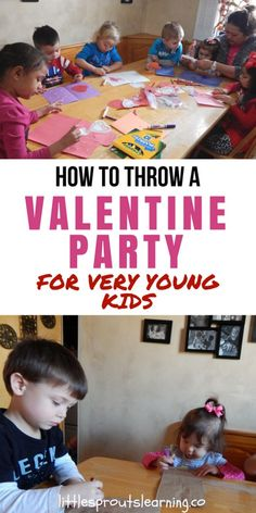 Valentines Kids Party Ideas for Very Young Kids. Throwing parties for kids should be as simple as possible. A valentine party is no exception. The easier you make it on yourself, the more fun you can have. Preschool Lessons, Kindergarten Activities, Preschool Activities, Valentine Party, Valentines For Kids, Winter Activities For Kids, Crafts For Kids, Family Child Care, Valentine Activities