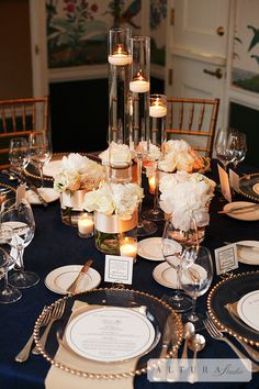 Bridal Bliss Wedding: Navy, Blush, and Gold... Love this! #KISSBride