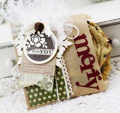 paper bag cookie wraps
