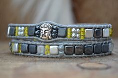 Happy buddha grey yellow Just Loes. Justloes.nl