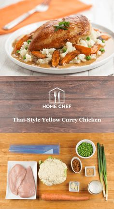 Give your delivery guy the night off with our Thai-style yellow curry chicken. The vibrant color and distinctive fragrance permeate this comforting curry. Aromatic and mild in flavor, it makes for a delightfully flavorful sauce when cooked with coconut milk and served with a tender chicken breast. We pair it with one of our favorite carb-friendly sides: cauliflower rice with peas.
