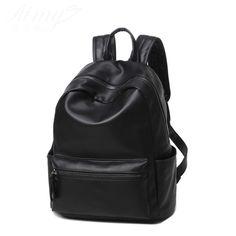 Favocent 2017 Black PU leather backpack women Korean Waterproof 12Inch  Laptop Women Bags High Quality Fashion Shoulder Bags 8d5226ebdd8d0