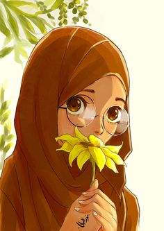 Innocence and beauty:) islamic girl, anime muslimah, hijab niqab, muslim hijab Girls Cartoon Art, Islamic Art, Drawings, Muslim Character, Cute Cartoon, Art, Anime, Anime Muslim, Cartoon Art