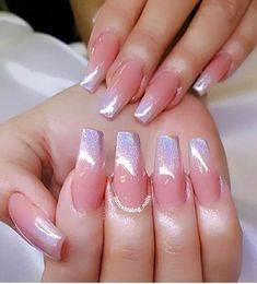 32 Trendy and Glamorous Ombre Coffin Nails for Your Inspiration Ombre nail designs are trendy and glamorous, so plenty of women are eager to have them. It seems very complicated at the first glance, but… Ombre Nail Colors, Ombre Nail Designs, Acrylic Nail Designs, Nail Art Designs, Gradient Color, Glitter Ombre Nails, Silver Glitter, Acrylic Nails Coffin Ombre, Glitter Toms