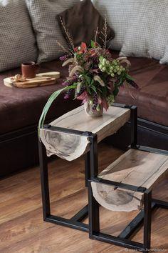 Wooden Coffee Table | Столик из спила дерева – купить в интернет-магазине на Ярмарке Мастеров с доставкой