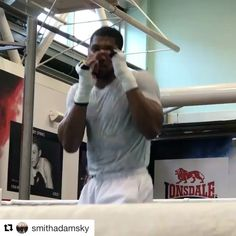 Lean Mean Anthony Joshua ready for war on March 31st