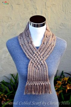 Knitting Pattern Only - Diamond Cabled Scarf - Knitted stitches - Knitting Yarn, Hand Knitting, Knitting Patterns, Knit Crochet, Crochet Hats, Quick Knits, Purl Stitch, Crochet Patterns For Beginners, Yarn Needle